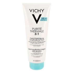 Desmaquillante integral para piel sensible Vichy 300 ml.