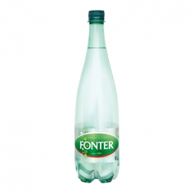 Agua mineral Fonter natural con gas