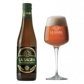 Cerveza artesana La Sagra premium botella 33 cl.