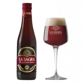 Cerveza artesana La Sagra roja botella