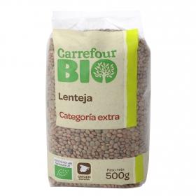 Lenteja categoría extra ecológica Carrefour Bio 500 g.
