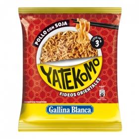 Fideos Orientales con pollo con soja Yatekomo Gallina Blanca 79 g.