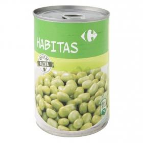 Habitas baby con aceite de oliva Carrefour 400 g.
