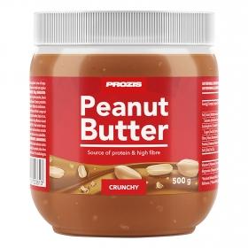 Crema de cacahuete crujiente alta en fibra y proteínas Prozis 500 g.