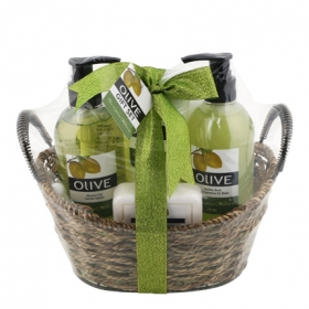 Cesta mimbre fragancia oliva