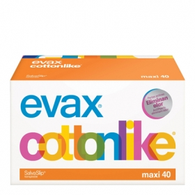 Protegeslip Cottonlike maxi Evax 40 ud.