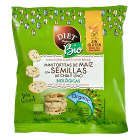 Tortitas de maíz con semillas de chía y lino ecológicas Diet Radisson sin gluten 50 g.