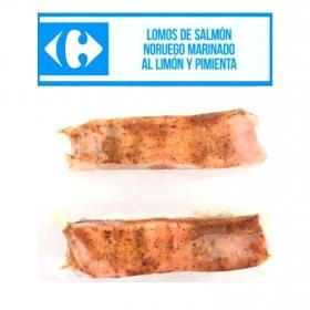 Lomos de salmón noruego marinado al limon y pimienta Carrefour 2 x 100 g