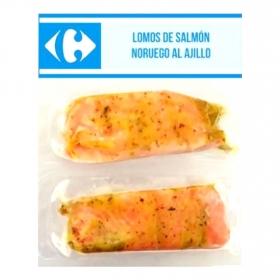 Lomo de salmón noruego al ajillo Carrefour 2x100 g