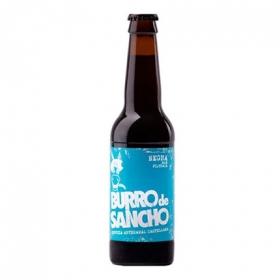 Cerveza artesana Burro de Sancho negra botella 33 cl.
