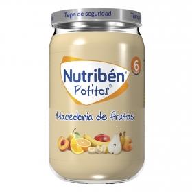 Tarrito de macedonia de frutas NutriBén 250 g.
