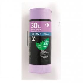 20 Bolsas Basura CARREFOUR Perfumada 30 Litros - Lila