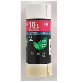 30 Bolsas Basura CARREFOUR Papelera 10 Litros - Blanco
