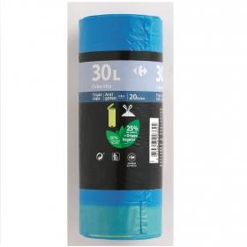 20 Bolsas Basura CARREFOUR Cubo Alto 30 Litros - Azul