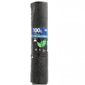 10 Bolsas Basura CARREFOUR Comunidad 100 Litros - Negro