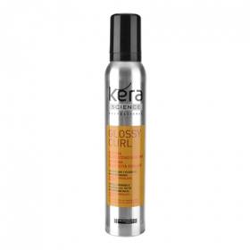 Espuma elasticidad para cabello ondulado, rizado Les Cosmétiques Kera Science 200 ml.
