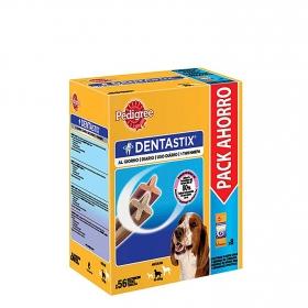 Comida para perros Pedigree Dentastix. Pack Mensual de 56 barritas