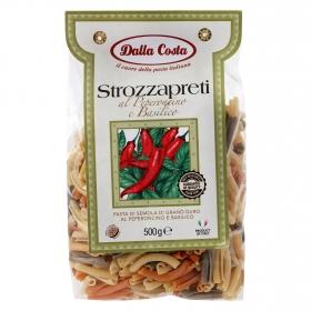 Strozzapreti de pimiento y albahaca Dalla Costa 500 g.