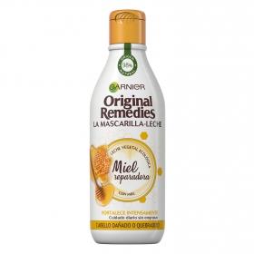 Mascarilla-leche capilar Miel Reparadora Original Remedies 250 ml.