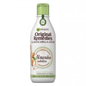 Mascarilla-leche capilar Almendra Nutritiva Original Remedies 250 ml.