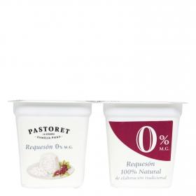 Requesón 0% M.G. Pastoret pack de 2 unidades de 125 g.