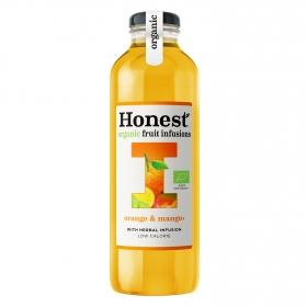 Refresco de té ecológico Honest sabor naranja y mango botella 33 cl.