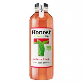 Refresco de té negro ecológico Honest sabor frambuesa botella 33 cl.