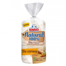 Pan de molde sin corteza Natural 100% Bimbo 450 g.