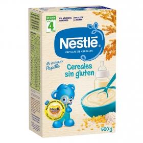 Papilla infantil desde 4 meses de cereales Nestlé sin gluten y sin aceite de palma 500 g.