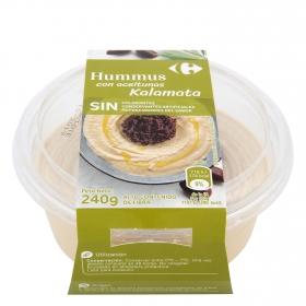 Hummus con aceitunas kalamata Carrefour 240 g.