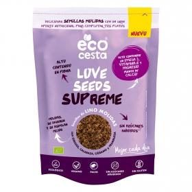 Semillas de lino, calabaza, girasol molidas sin azúcar añadido ecológicas Ecocesta sin gluten 200 g.