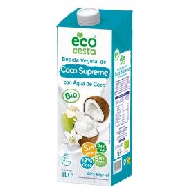 Bebida de coco supreme sin azúcar añadido ecológica sin gluten Ecocesta brik 1 l.