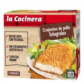 Pollo empanado crujiente y rebozado integral La Cocinera 180 g.