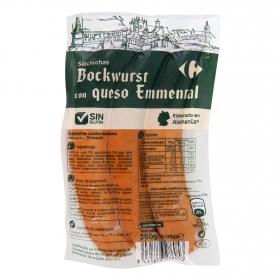 Salchichas bockwurst con queso emmental Carrefour sin gluten 360 g.
