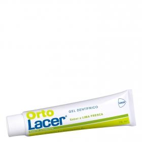 Dentífrico especial ortodoncia sabor lima fresca Lacer Orto 75 ml.