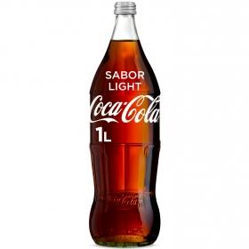 Refresco de cola Coca Cola light botella 1 l.