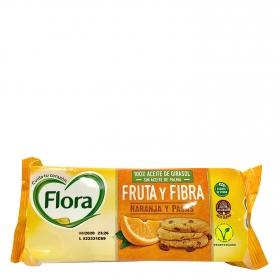 Galletas con naranja y pasas Flora 125 g.