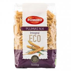 Macarrones ecológicos Romero nº4 integrales calidad superior 500 g.