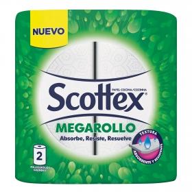 Papel de cocina Megarollo Scottex 2 rollos.