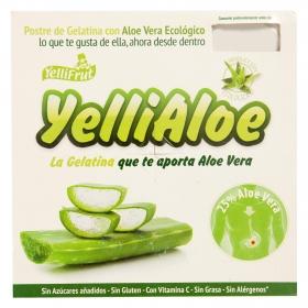 Gelatina de aloe vera ecológica JelliFrut pack de 4 unidades de 100 g.