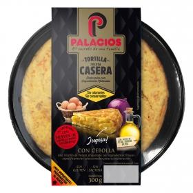 Tortilla receta casera con cebolla sin gluten y sin lactosa