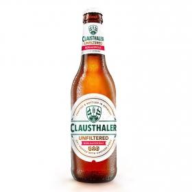 Cerveza Clausthaler sin alcohol sin filtrar botella 33 cl.