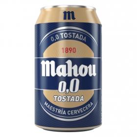 Cerveza Mahou 0,0 sin alcohol tostada lata 33 cl.