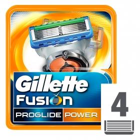 Recambio fusion proglide power Gillette 4 ud.