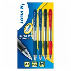 Bolígrafos retráctiles 2 Azul/1 Negro/1 Rojo