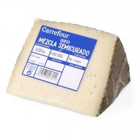 Queso semicurado mezcla Carrefour cuña 1/8, 375 g aprox