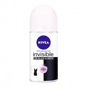 Desodorante invisible For Black & White Clear roll-on Nivea 50 ml.