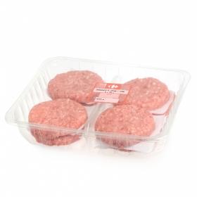 Hamburguesa Mixta (Vacuno y Cerdo) Carrefour Envase Familiar (8x125g) 1 Kg