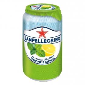 Limonada con menta gaseosa San Pellegrino lata 33 cl.