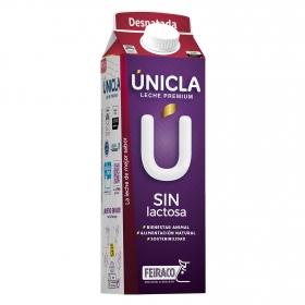 Leche desnatada Únicla premium sin lactosa brik 1 l.